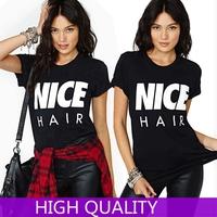 Tshirts Women New 2015 FashionT-Shirt Short Sleeve Letters Printed Shirts TShirt Simple Women Clothing Tops Casual Top Plus Size