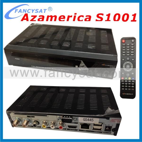 Receptor satellite digital hd Receptor azamerica s1001 hd sks iks nagra 3(China (Mainland))