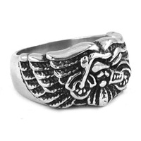 Free shipping! Wings Motorcycles Biker Ring Stainless Steel Jewelry Gothic Motor Biker Ring SWR0261