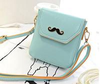 2014 summer new wave female package Europe moustache messenger bag cute shoulder bags diagonal mini phone bags