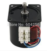 60mm Body Dia 7mm Shaft AC 220V 30RPM Synchronous Reduction Gear Motor