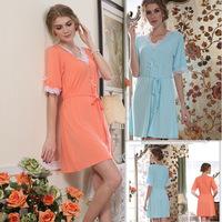 New Summer Style Woman pajama dress sleepshirt top quality soft comfortable cotton fashion nightgown free shipping