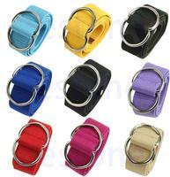 D19  Fashion Men Womens Unisex Belts Canvas Belt Double Loop Buckle New