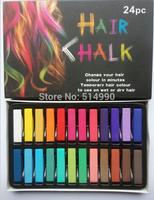 24-color short hair color pens sets Disposable 24 colors hair pens Hair color Chalks 24 sticks of soft pastel chalks