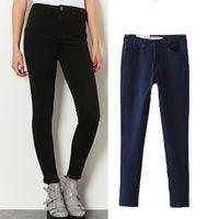 2014 Winter High Waist Jeans Sexy Slim Casual Skinny Jeans Women Fashion Pencil Pants Plus Size  26-30 Denim Elastic Trousers
