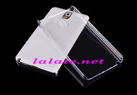 High Quality Clear Crystal Hard Plastic Transparent Case Cover Skin for Samsung Galaxy Note 4 Via DHL 500pcs