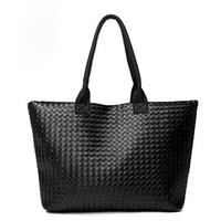 2015 New Hot Winter casual Handbag, Brand Women handbag big size women shoulder bag,PU Woven handbag,leisure vintage bag