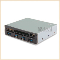 100set/lot USB 3.0 Speed 4 Ports MS CF SD XD TF M2 6 Slots Card Reader for Desktop PC Factory Sale
