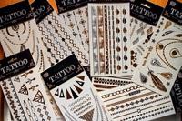 Flash Tattoo Classy Tats Jewelry Inspired Metallic Gold & Silver & Black Tattoo