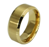 New Arriving High Quality 18K Gold Plated Titanium Steel Men Rings Fashion Mens Jewelry Wedding Band Rings Free Shipping