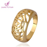 Size 8 18k Gold Rings Luxury Brand Fashion Jewelry Women's Party Finger Ring 2014 New Trendy Vinatge Accessories SALE Anillos
