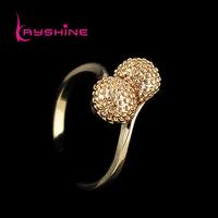 Retro Style Alloy Finger Aulic Gold Color Cherry Rings For Women Brand Design Anel Feminino