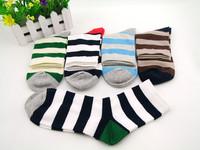 Fashion socks fashion cotton 100% wide multicolour stripe cotton socks men's socks multicolour