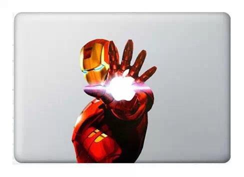 Компьютер гомер железный человек наклейки винил наклейка стикера Ironmen наклейки для ноутбука Apple MacBook Pro Retina 13 15 дюймов