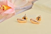 Free shipping 10pcs/lot Tail Pattern Stud Earrring, Tiny Cubic Bead Shape Stud Earrings ED060