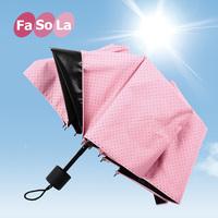Fasola sun umbrella sun umbrella anti-uv vinyl three fold umbrella women's folding umbrella