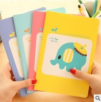 Nice 60pcs/lot Cartoon Animal Notepad Candy Color Notebook Hardcover Journal Diary Memo Pad Stationery Writing Supplies #NB004