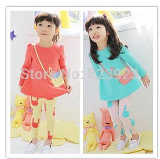 Новый 2015 осенние дети одевая костюмы девочек комплект одежды ребенка спортивной комплект девушка свободного покроя костюм бесплатная доставка
