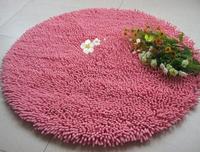"Round Area Rug  Chenille Shaggy Bath Rug Carpet Sitting Room Tea Table Bedroom Carpet Floor Mats For Home Yoga  Diameter 47.2"""