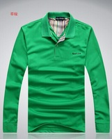 2014 Autumn Winter Fashion New Men's Long Sleeve T-shirt 100% Cotton Good Quality Casual Slim Tshirt For Men Brand Design