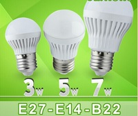 5pcs/lot Led Lamp E27 B22 E14 110v 220V 3w 5w 7w 9w 12w 15w 25w 30w 50w Led Bulb light 180 Degree Warm Cold White Led spotlight