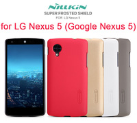NILLKIN Super Frosted Shield case for LG Nexus 5 (Google Nexus 5) with screen protector and retailed package+free shipping