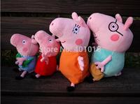 4 pcs/set big size set  Peppa George Pig Toys New Baby Anime Toys Pepa Pig Plush Family Set Doll Gift For Chilren Gilrs Boys