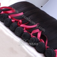 "Xmas Sale!!  6A Unprocessed Brazilian Virgin Hair Straight 8""-26"" In Stock 3pcs/lot 100% Human Hair Extensions Free Shipping!"