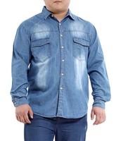 Free shipping famous brand plus size XXL XXXL 4xl 5xl 6xl 8xl mens jeans shirts clothing jeans casual shirt men casual-shirt