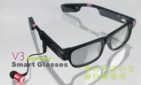 bluetooth multimedia MP3 music glasses DV camera glasses smart glasses 2014 new hot selling free shipping