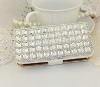Luxury Bling Rhinestone Diamond for samsung galaxy  i9300 i9500 N7100 wallet flip phone leather case cover