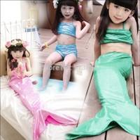 baby Girls summer sling swimsuit sets child mermaid shiny Mermaid clothing  J8AS310-62