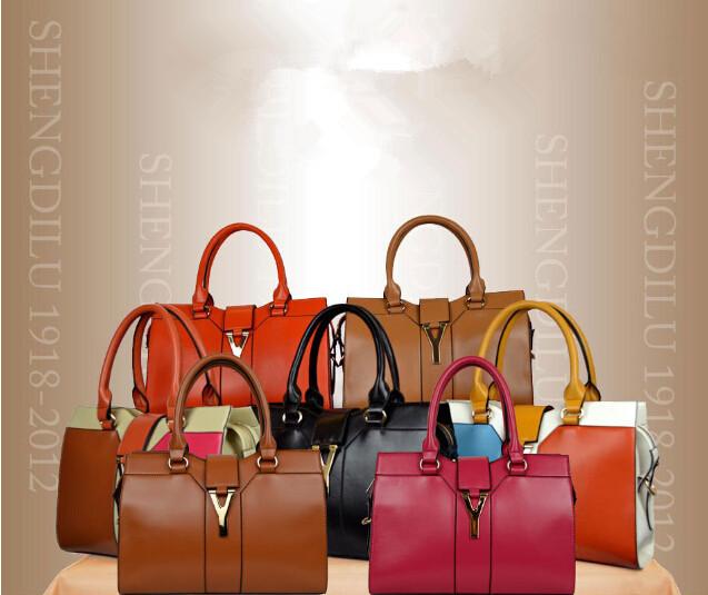 2014 new design fashion women genuine leather hand bag cheap , women bag , hotsale handbag(China (Mainland))