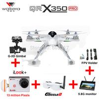 EMS Free Shipping Walkera Qr X350 Pro Drone Brushless Devo10 Transmitter RC Quadcopter with iLook plus camera FPV RTF VS H500