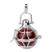 CYLZ0005 Free Shipping New 925 Sterling Silver Jewelry Harmony Ball Pendant Fashion 20MM Angel Caller Chime Pendant For Pregnant