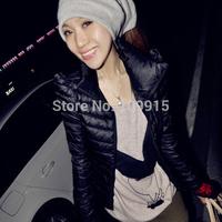 Brand newWinter Womens Jacket Cotton Outerwear Short Coat Long Sleeve Zipper Overcoat
