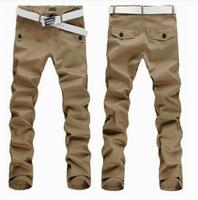 NEW SALE MEN'S PANTS FASHION CASUAL KOREAN VERSION OF MEN'S CASUAL PANTS, UNWORTHY BELT