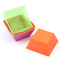 Exported to Europe 7cm square silicone bakeware silicone baking mold jelly mold microwave oven pudding mold