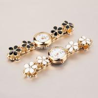 1pcs High Quality Women Girl WristWatch Korean Fashion Daisies Flower Rose Gold Bracelet Wrist Watch gift