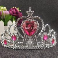 20pcs/lot Children baby girl's Acrylic diamond hairbands Frozen Elsa Crown Girl Tiaras Crown Headbands For Halloween Costume