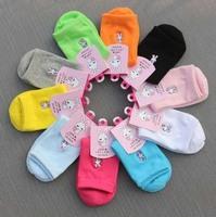 10 Pairs Fashion Style Girls Teenagers Cartoon Rabbit Cotton Socks Women's Brand Mix Colors Free Shipping