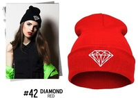 Knitted Balaclava Hat Ski Stocking Winter Cap multifunctional DIAMOND hat hiphop Wool cap Out Door Sports for women men MD1495