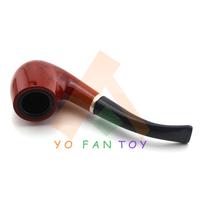 Stylish Tobacco Pipe Durable Plastic Cigarette Filter Smoking Pipe Cigarette Holder Black + Red #702B