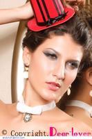 Gothic White Lace Choker LC73050 Vintage lace necklace
