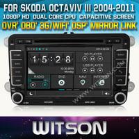 WITSON Car DVD GPS Navigation  for Skoda Octavia II Octavia III +OBD / Mirror Link support+ DSP Audio + 1080P HD Video Display
