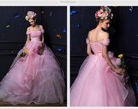 Vestido De Noiva 2015 Fashionable Plus Size Vintage Ball Gown Organza Wedding Dresses Robe De Mariage Casamento Little Bride