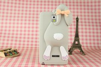 For Samsung Galaxy Note3 Silicone Phone shell Wholesale, Buck teeth rabbit  Mobile protective shell / Phone case 7 color
