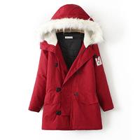 Winter Jacket Women Medium Long Slim Large Fur Collar Thick Hooded Jackets Cotton Plus Size Casual Winter Coat Women Parka
