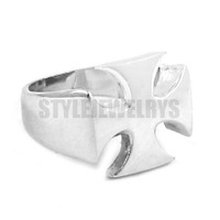 Free shipping! Silver Cross Biker Ring Stainless Steel Jewelry Classic Corss Ring SWR0262