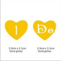 Popular glitter Shoe Sticker for Wedding Shoes - I Do in Heart gold Shoe Sticker